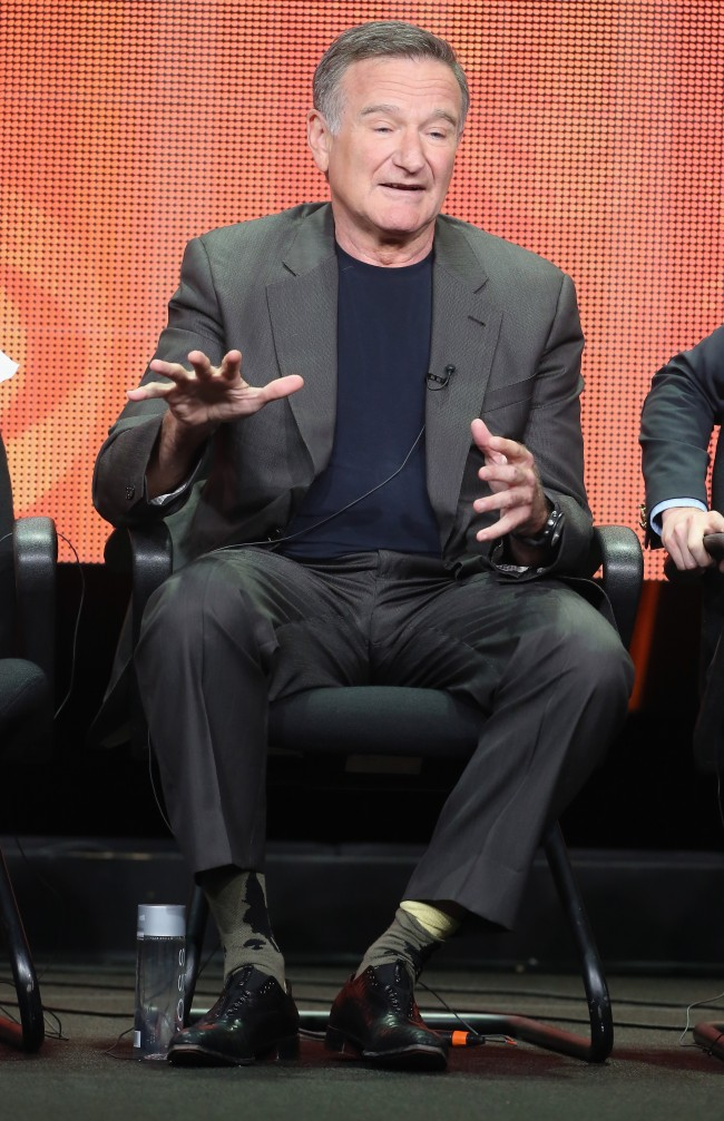 Robin Williams during a press conference
