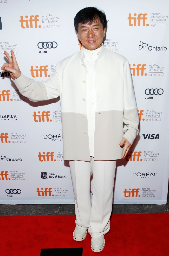 Caption:TORONTO, ON - SEPTEMBER 09: Actor Jackie Chan attends 'In Conversation With...Jackie Chan' premiere during the 2012 Toronto International Film Festival at Princess of Wales Theatre on September 9, 2012 in Toronto, Canada. (Photo by Jemal Countess/Getty Images)