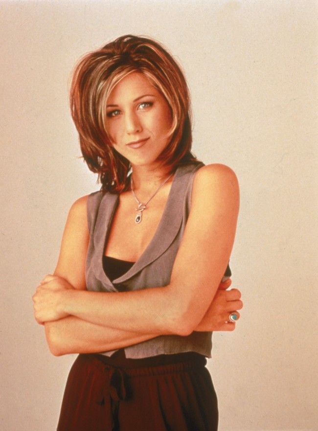 Promotional portrait of American actor Jennifer Aniston for the television series, 'Friends,' c. 1995.