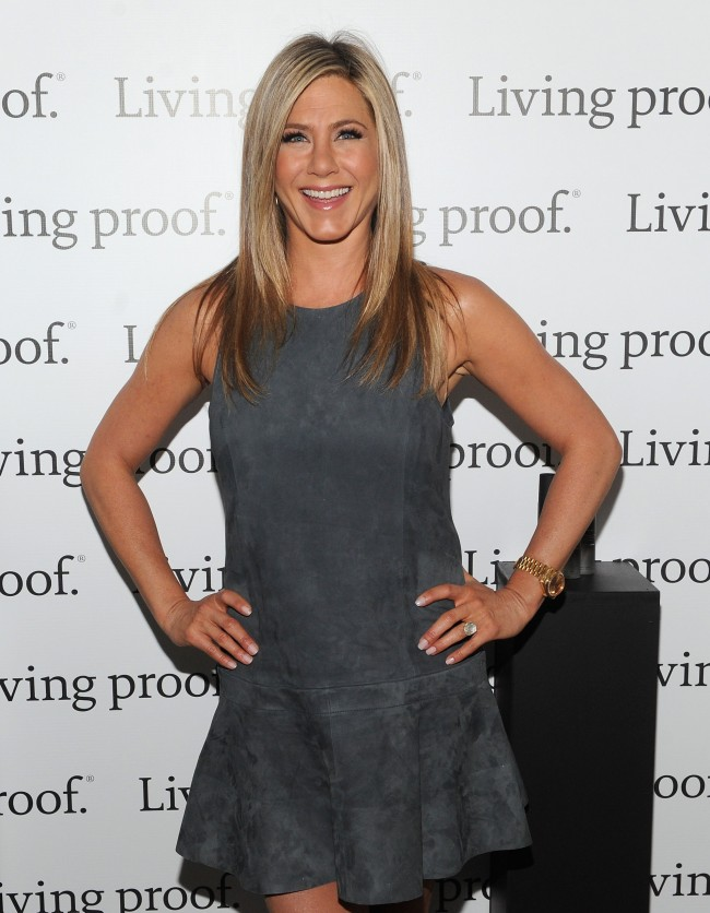 NEW YORK, NY - MAY 08: Jennifer Aniston launches Living Proof Good Hair Day Web Series at The Royalton Hotel on May 8, 2013 in New York City.
