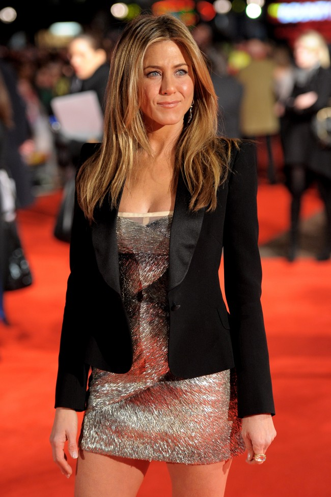 LONDON, ENGLAND - MARCH 11: Jennifer Aniston attends the UK film premiere of 'The Bounty Hunter' at Vue West End on March 11, 2010 in London, England.