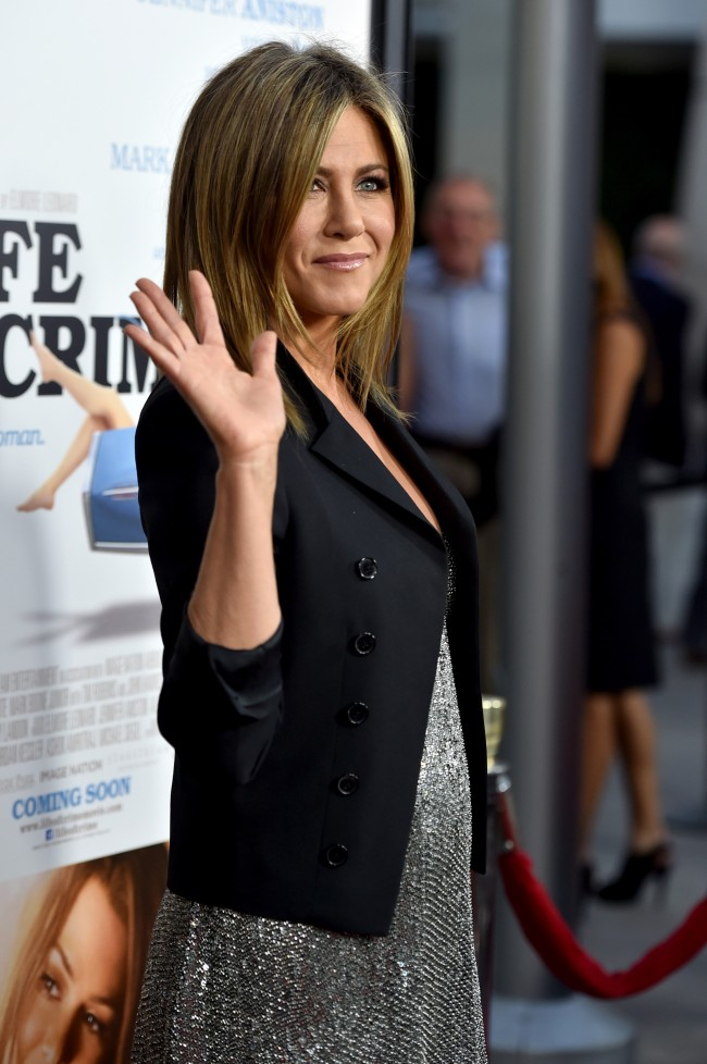 HOLLYWOOD, CA - AUGUST 27: Actress Jennifer Aniston attends the premiere of Lionsgate and Roadside Attractions' 'Life of Crime' at ArcLight Cinemas on August 27, 2014 in Hollywood, California.