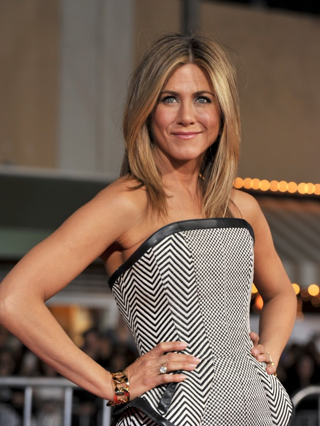 WESTWOOD, CA - FEBRUARY 16: Actress Jennifer Aniston arrives at the premiere of Universal Pictures' 'Wanderlust' held at Mann Village Theatre on February 16, 2012 in Westwood, California.