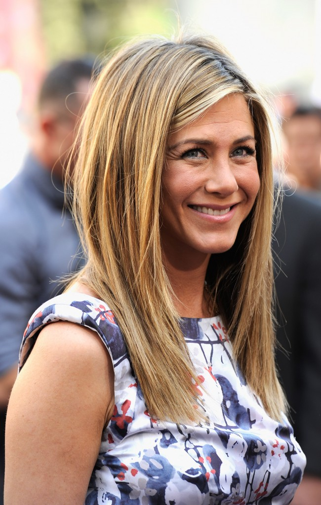HOLLYWOOD, CA - FEBRUARY 22: Actress Jennifer Aniston who was honored with a star on the Hollywood Walk Of Fame on February 22, 2012 in Hollywood, California.
