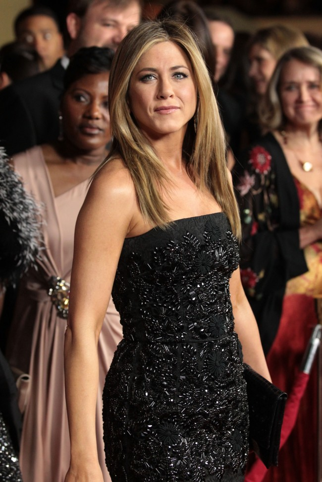 HOLLYWOOD, CA - JANUARY 28: Actress-director Jennifer Aniston arrives at the 64th Annual Directors Guild Of America Awards held at the Grand Ballroom at Hollywood & Highland on January 28, 2012 in Hollywood, California.