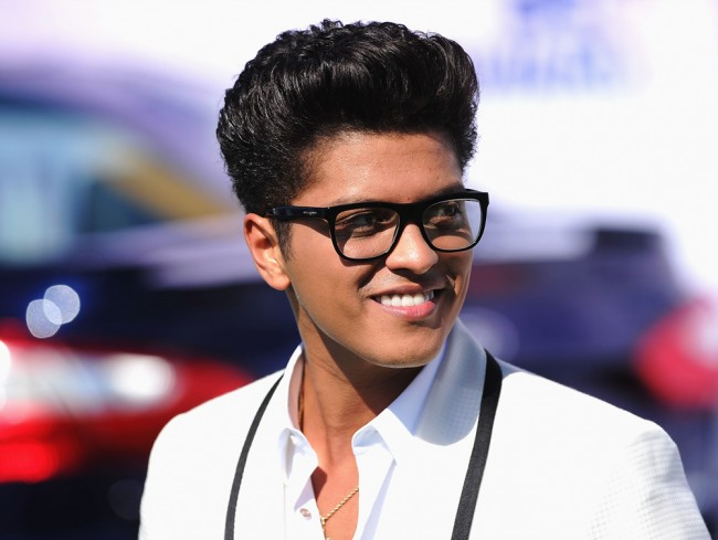 LOS ANGELES, CA - JUNE 26: Musician Bruno Mars arrives at the BET Awards '11 held at the Shrine Auditorium on June 26, 2011 in Los Angeles, California