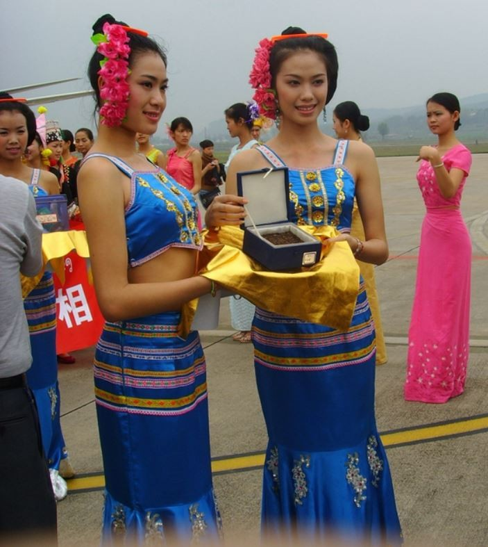Watering  dai people china