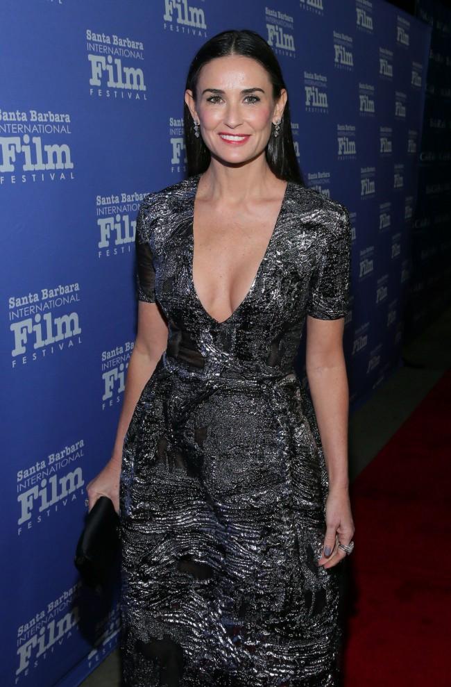 GOLETA, CA - NOVEMBER 16: Actress Demi Moore attends the Santa Barbara International Film Festival 9th Annual Kirk Douglas Award for Excellence in Film honoring Jessica Lange held at the Bacara Resort on November 16, 2014 in Goleta, California.