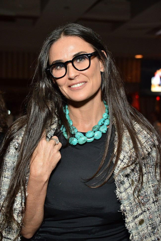 WEST HOLLYWOOD, CA - OCTOBER 15: Demi Moore attends the Malcolm Gladwell and Lisa and Eric Eisner in support of YES event at Sunset Tower Hotel on October 15, 2014 in West Hollywood, California.