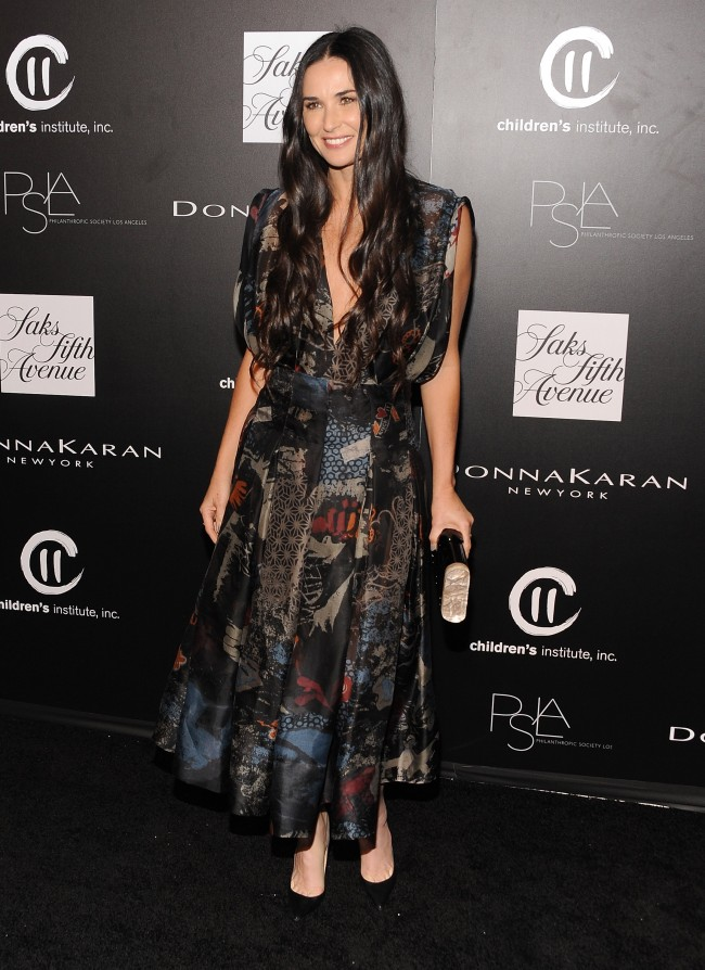 CULVER CITY, CA - OCTOBER 08: Actress Demi Moore attends the fifth annual PSLA Autumn Party benefiting Childrens Institute, Inc., sponsored by Saks Fifth Avenue, with fashion partner Donna Karan at 3Labs on October 8, 2014 in Culver City, California.
