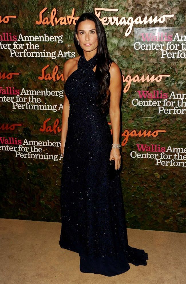 BEVERLY HILLS, CA - OCTOBER 17: Actress Demi Moore arrives at the Wallis Annenberg Center For The Performing Arts Gala at the Wallis Annenberg Center For The Performing Arts on October 17, 2013 in Beverly Hills, California.