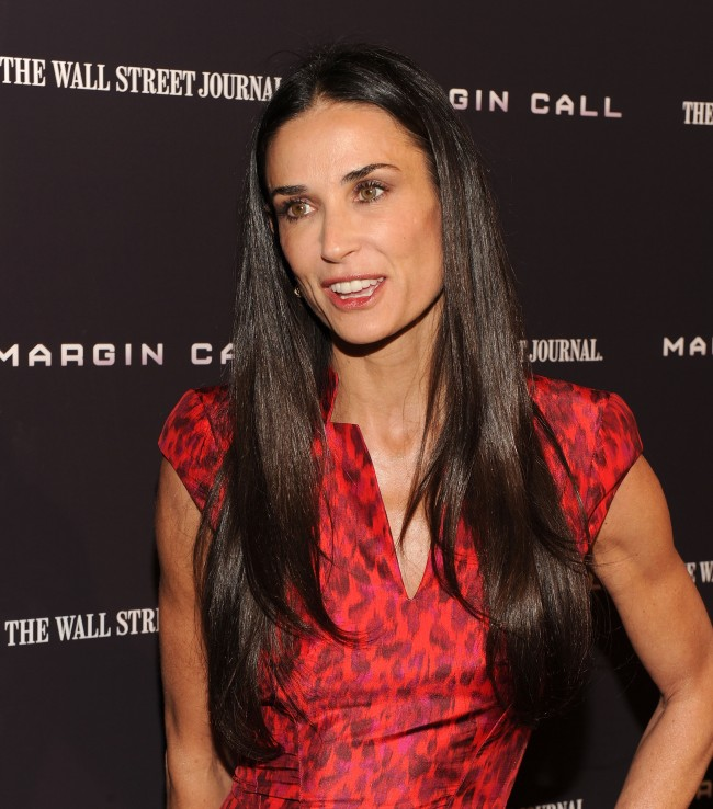 NEW YORK, NY - OCTOBER 17: Actress Demi Moore attends the 'Margin Call' premiere at the Landmark Sunshine Cinema on October 17, 2011 in New York City.