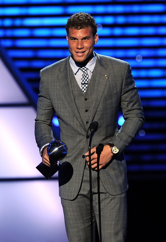 LOS ANGELES, CA - JULY 13: NBA player Blake Griffin accepts the ESPY for Best Breakthrough Athlete The 2011 ESPY Awards at Nokia Theatre L.A. Live on July 13, 2011 in Los Angeles, California