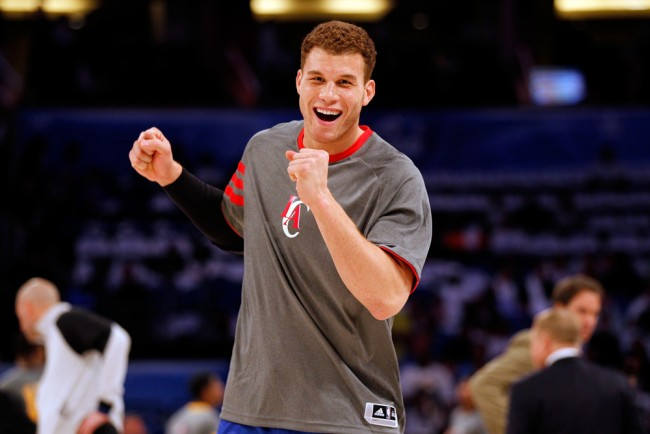 ORLANDO, FL - FEBRUARY 24: Blake Griffin of the Los Angeles Clippers and Team jokes aorund on the court during the BBVA Rising Stars Challenge part of the 2012 NBA All-Star Weekend at Amway Center on February 24, 2012 in Orlando, Florida.