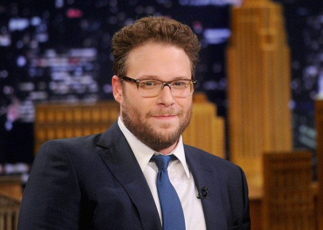 NEW YORK, NY - MAY 06: Seth Rogen Visits 'The Tonight Show Starring Jimmy Fallon' at Rockefeller Center on May 6, 2014 in New York City.