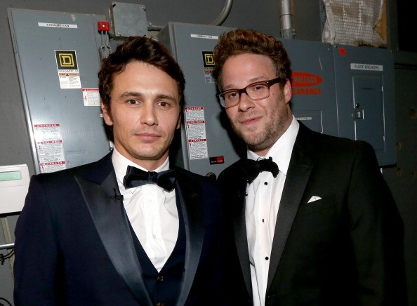CULVER CITY, CA - AUGUST 25: Roastee James Franco (L) and roast master Seth Rogen attend The Comedy Central Roast of James Franco at Culver Studios on August 25, 2013 in Culver City, California. The Comedy Central Roast Of James Franco will air on September 2 at 10:00 p.m. ET/PT.