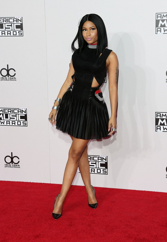LOS ANGELES, CA - NOVEMBER 23: Singer Nicki Minaj attends the 42nd Annual American Music Awards at the Nokia Theatre L.A. Live on November 23, 2014 in Los Angeles, California.