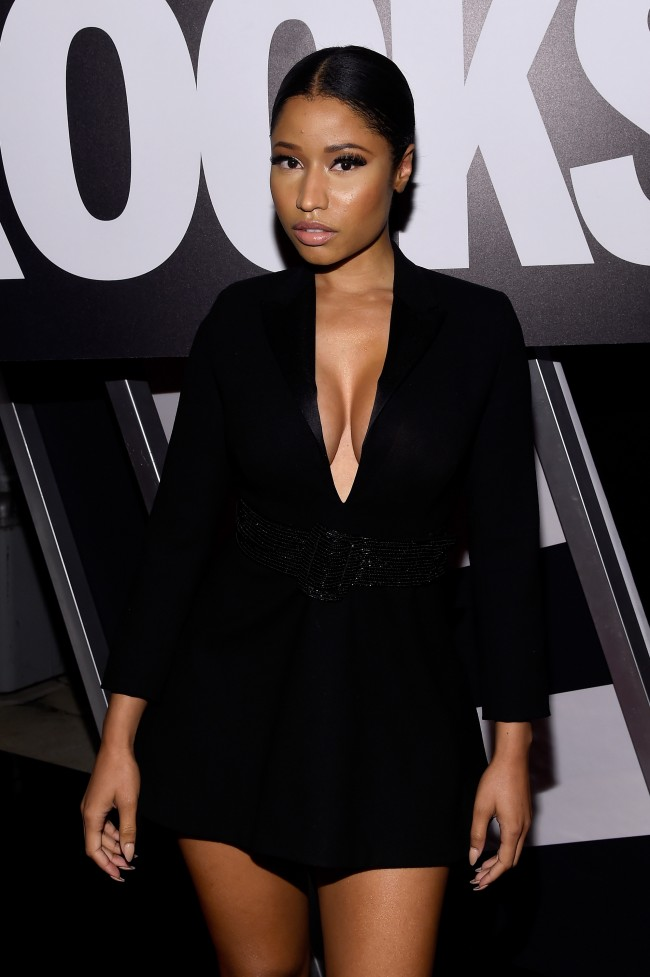 NEW YORK, NY - SEPTEMBER 09: Rapper Nicki Minaj attends Fashion Rocks 2014 presented by Three Lions Entertainment at the Barclays Center of Brooklyn on September 9, 2014 in New York City.