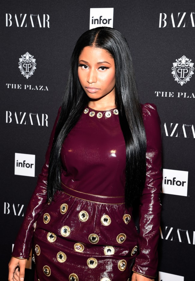 NEW YORK, NY - SEPTEMBER 05: Nicki Minaj attends Moet & Chandon and Belvedere Vodka Toast to Harper's Bazaar Icons at The Plaza Hotel on September 5, 2014 in New York City.