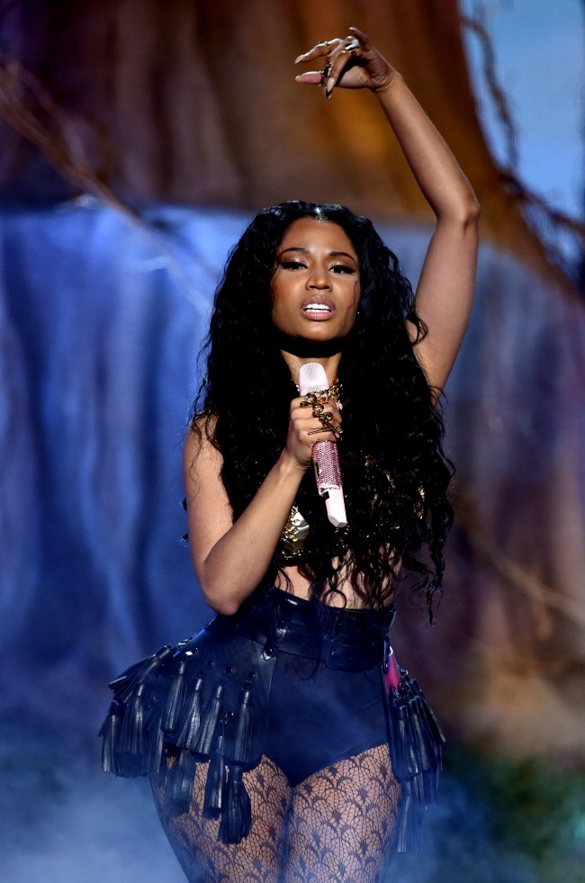 LOS ANGELES, CA - JUNE 29: Rapper Nicki Minaj performs onstage during the BET AWARDS '14 at Nokia Theatre L.A. LIVE on June 29, 2014 in Los Angeles, California.