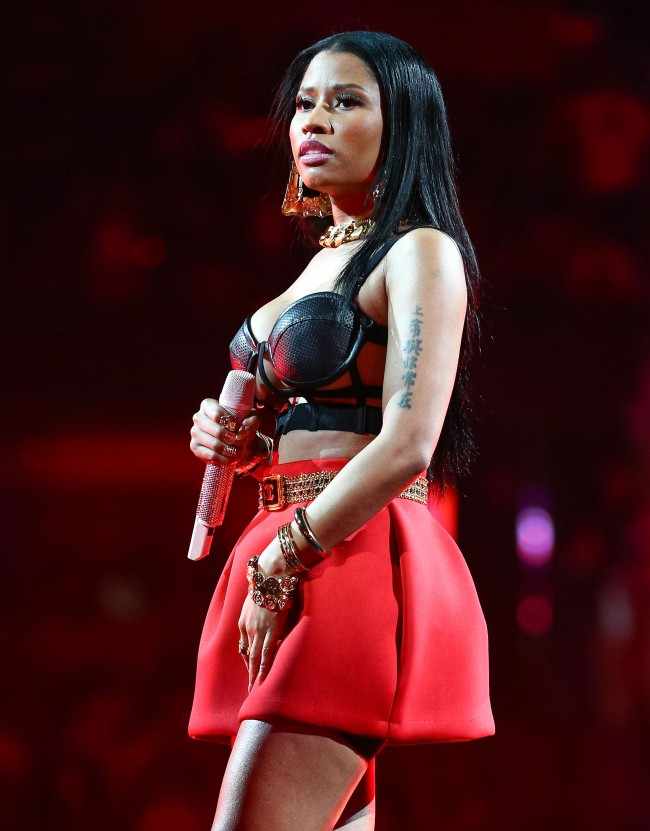 ANAHEIM, CA - MAY 17: Recording artist Nicki Minaj performs onstage at Power 106 FM's Powerhouse at Honda Center on May 17, 2014 in Anaheim, California.