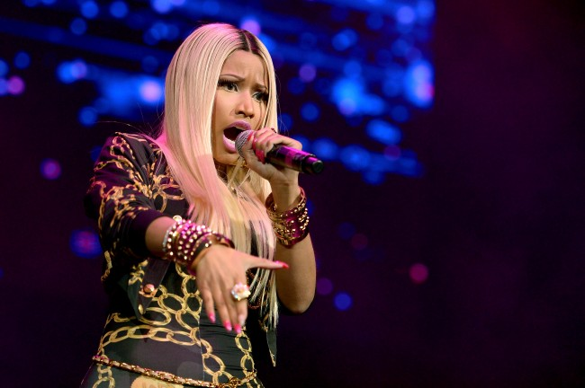 NEW YORK, NY - NOVEMBER 02: Rapper Nicki Minaj performs onstage at Power 105.1's Powerhouse 2013, presented by Play GIG-IT, at Barclays Center on November 2, 2013 in New York City.