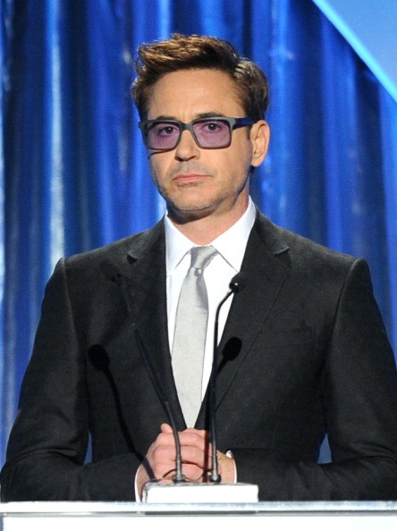 BEVERLY HILLS, CA - JANUARY 19: Actor Robert Downey Jr. speaks onstage during the 25th annual Producers Guild of America Awards at The Beverly Hilton Hotel on January 19, 2014 in Beverly Hills, California.