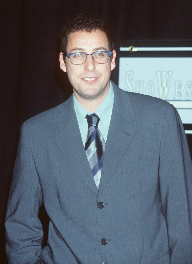 Las Vegas, NV. Adam Sandler at the ShoWest ''99 Convention held at the Bally's Hotel in Las Vegas.