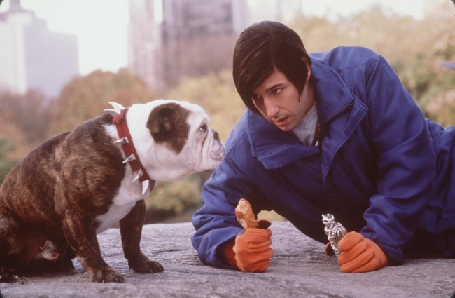 Beefy, left, and comedian Adam Sandler star in new Line Cinema''s comedy, 'Little Nicky.'