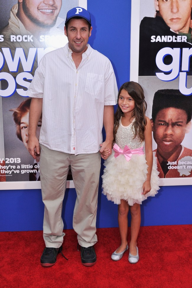 NEW YORK, NY - JULY 10: Actors Adam Sandler (L) and Alexys Nycole Sanchez attend the 'Grown Ups 2' New York Premiere at AMC Lincoln Square Theater on July 10, 2013 in New York City.