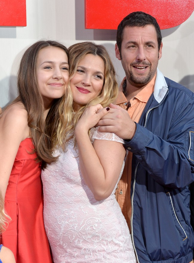 HOLLYWOOD, CA - MAY 21: Actors Emma Fuhrmann Drew Barrymore and Adam Sandler attend the Los Angeles premiere of 'Blended' at TCL Chinese Theatre on May 21, 2014 in Hollywood, California.