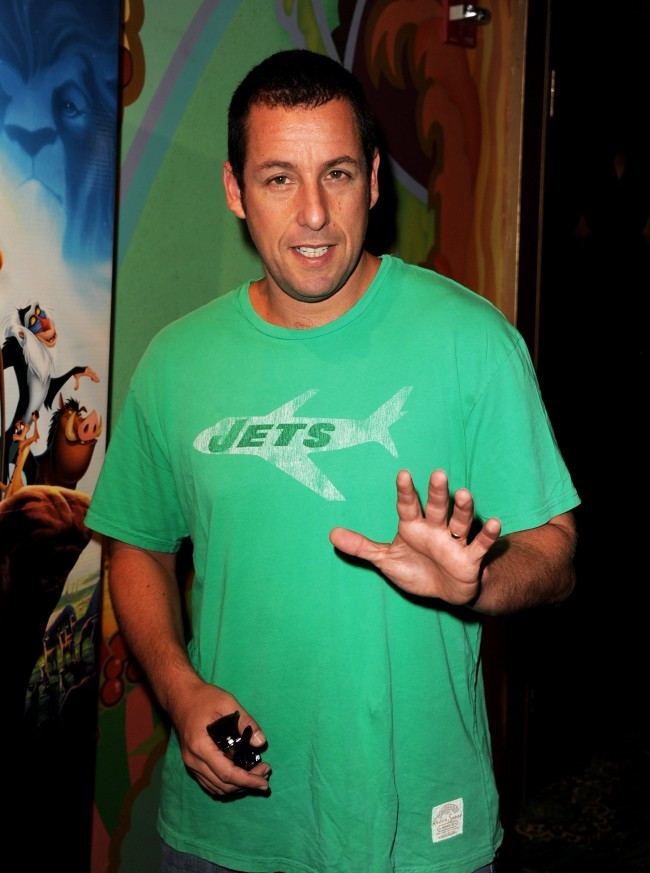 LOS ANGELES, CA - AUGUST 27: Actor Adam Sandler arrives at the premiere of Walt Disney Studios' 'The Lion King 3D' at the El Capitan Theater on August 27, 2011 in Los Angeles, California.