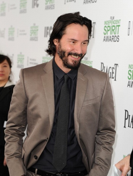 SANTA MONICA, CA - MARCH 01: Actor Keanu Reeves attends the 2014 Film Independent Spirit Awards at Santa Monica Beach on March 1, 2014 in Santa Monica, California.
