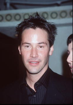 03/24/99. Westwood, CA. Keanu Reeves arrives at the world premiere showing of the new film 'The Matrix' at the Mann's Village Theatre.