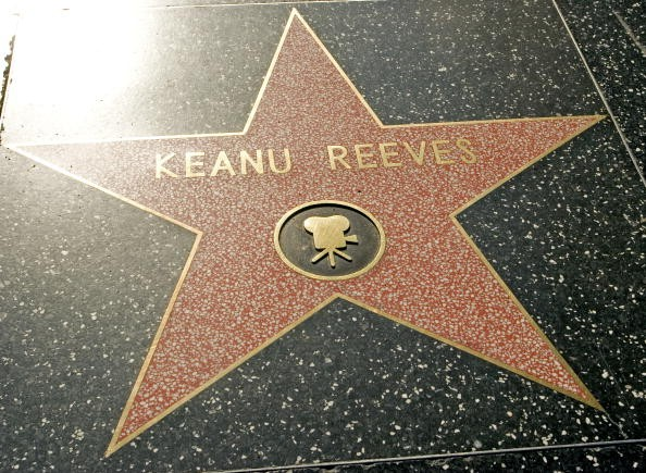 Star of Keanu Reeves on the Hollywood Walk of Fame, in Hollywood.