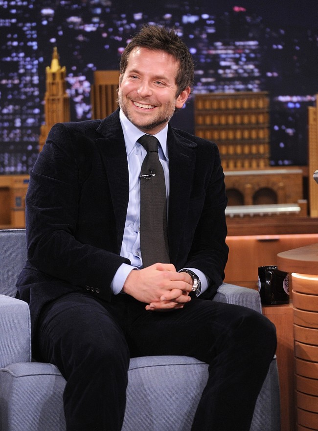 NEW YORK, NY - FEBRUARY 19: Bradley Cooper visits 'The Tonight Show Starring Jimmy Fallon' at Rockefeller Center on February 19, 2014 in New York City.