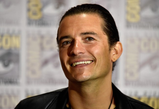 SAN DIEGO, CA - JULY 26: Actor Orlando Bloom attends 'The Hobbit: The Battle Of The Five Armies' Press Line during Comic-Con International 2014 at Hilton Bayfront on July 26, 2014 in San Diego, California.