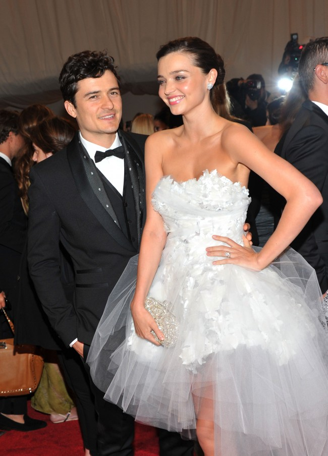 NEW YORK, NY - MAY 02: Actor Orlando Bloom and model Miranda Kerr attend the 'Alexander McQueen: Savage Beauty' Costume Institute Gala at The Metropolitan Museum of Art on May 2, 2011 in New York City.