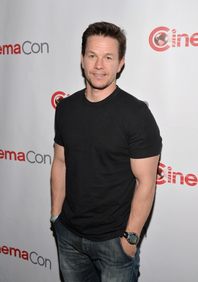 LAS VEGAS, NV - MARCH 24: Actor Mark Wahlberg attends CinemaCon 2014 Off and Running: Opening Night Studio Presentation from Paramount Pictures at Caesars Palace during CinemaCon 2014 on March 24, 2014 in Las Vegas, Nevada. (Photo by )