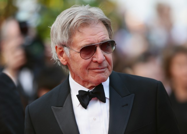 CANNES, FRANCE - MAY 18: Harrison Ford attends 'The Expendables 3' premiere during the 67th Annual Cannes Film Festival on May 18, 2014 in Cannes, France.