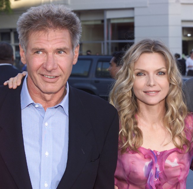 Harrison Ford and Michelle Pfeiffer at the premiere of 'What Lies Beneath' at the Village Theater in Los Angeles, Ca. on 7/18/00.