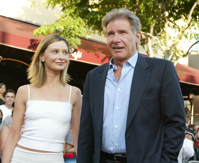 Harrison Ford and Calista Flockhart at the premiere of 'K-19: The Widowmaker' at the Village Theatre in Westwood, Ca. Monday, July 15, 2002.