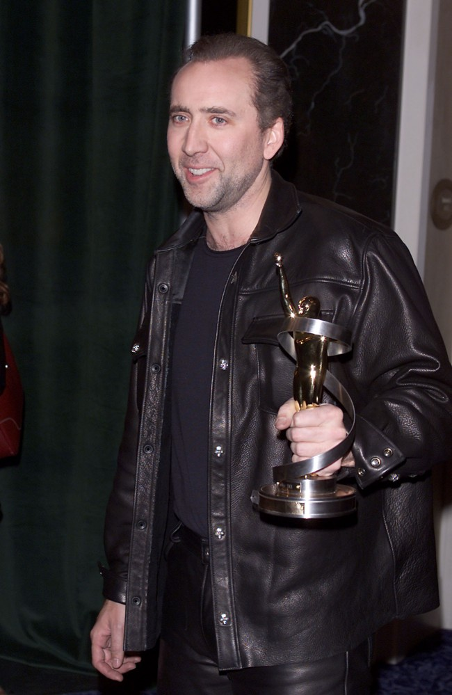 Nicolas Cage received the 'Distinguished Decade of Achievement in Film' award at the 2001 ShoWest Awards Ceremony at the Paris Hotel, Las Vegas, Ca. 3/8/01.