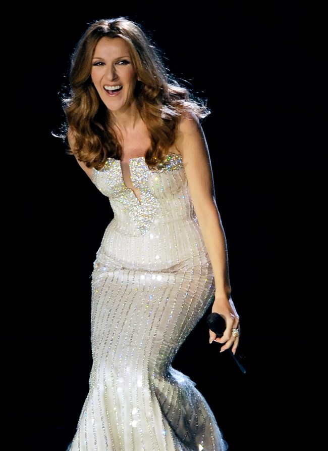 LAS VEGAS, NV - MARCH 15: Singer Celine Dion performs during the first night of her new show at The Colosseum at Caesars Palace March 15, 2011 in Las Vegas, Nevada. Dion, who ended a five-year run at The Colosseum in December of 2007, is beginning a three-year residency at the 4,300-seat venue.