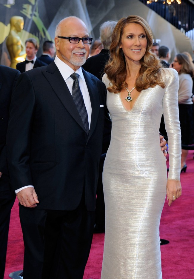 HOLLYWOOD, CA - FEBRUARY 27: Rene Angelil (L) and his wife, singer Celine Dion, arrive at the 83rd Annual Academy Awards at the Kodak Theatre February 27, 2011 in Hollywood, California.