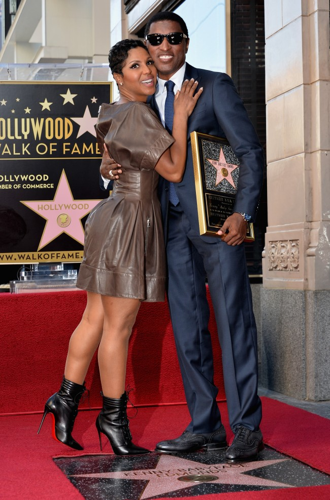 HOLLYWOOD, CA - OCTOBER 10: Singer Toni Braxton and songwriter/record producer Kenny 'Babyface Edmonds attend a ceremony honoring Kenny 'Babyface' Edmonds with the 2508th Star on the Hollywood Walk of Fame on October 10, 2013 in Hollywood, California.