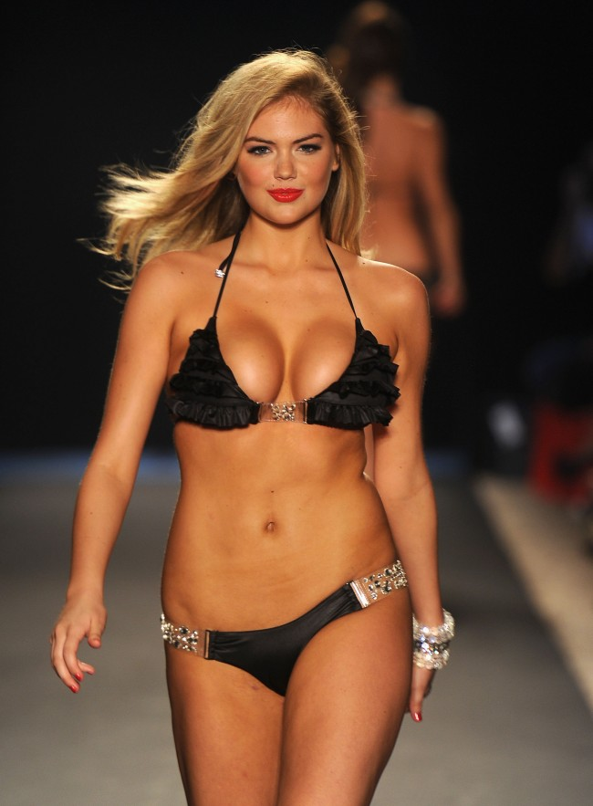 MIAMI BEACH, FL - JULY 15: Kate Upton walks the runway at the Beach Bunny Swimwear show during Merecdes-Benz Fashion Week Swim 2012 at The Raleigh on July 15, 2011 in Miami Beach, Florida.