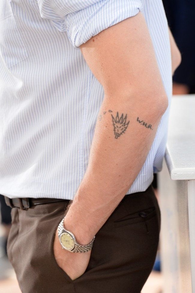 CANNES, FRANCE - MAY 20: Director Ryan Gosling (tattoo detail) attends the 'Lost River' photocall during the 67th Annual Cannes Film Festival on May 20, 2014 in Cannes, France.