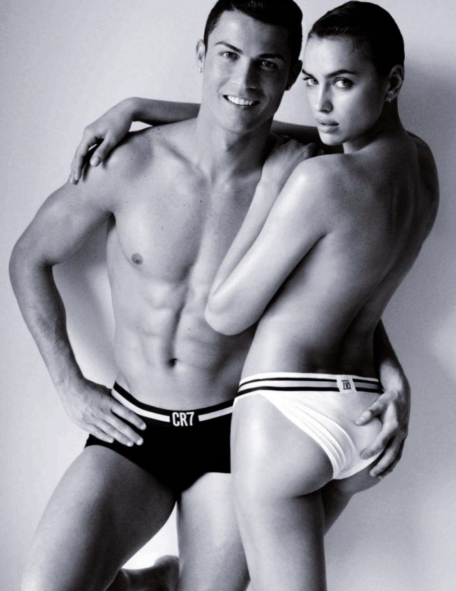 Irina Shayak and Cristiano Ronaldo in a CR7 ad.