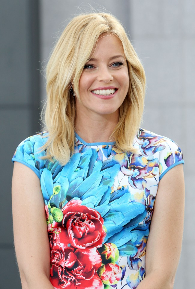 LOS ANGELES, CA - SEPTEMBER 03: EXTRA interviews actress Elizabeth Banks at Westfield Century City on September 3, 2014 in Los Angeles, California.